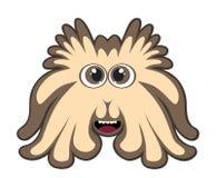 Śliczny brown potwór odizolowywający na bielu Zdjęcie Stock