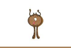 Śliczny brown potwora dokuczać obraz stock