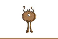 Śliczny brown potwora spęczenie Obraz Royalty Free