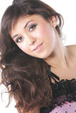 śliczny brunetka włosy tęsk menchie Zdjęcie Stock