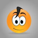 Śliczny chłopiec emoticon Zdjęcia Royalty Free