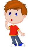 Śliczny chłopiec kreskówki główkowanie Zdjęcia Royalty Free