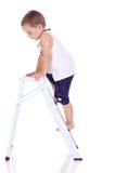 Wspinaczkowa chłopiec Obrazy Stock