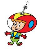 śliczny chłopiec spacesuit ilustracji