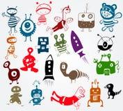 śliczny charakteru doodle dużo Zdjęcie Royalty Free