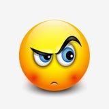 Śliczny ciekawy emoticon, emoji - wektorowa ilustracja ilustracja wektor