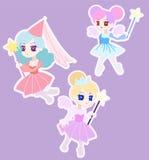 Śliczny Czarodziejski Princess charakter z skrzydłami Royalty Ilustracja