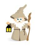 Śliczny czarownik popielaty ilustracja wektor