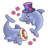 śliczny delfinów pary ślub Zdjęcia Stock