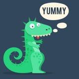 Śliczny dinosaur yummy ilustracji