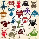 śliczny doodle wiele potwory Zdjęcia Royalty Free