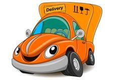 Śliczny doręczeniowy samochód - wektorowa ilustracja ilustracja wektor