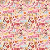 śliczny elementu miłości wzór bezszwowy Fotografia Stock
