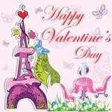 Śliczny francuski valentines dnia tło Obraz Stock