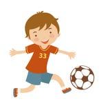 Śliczny gracz futbolu Zdjęcia Royalty Free