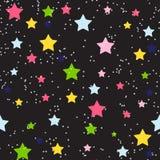 Śliczny Gwiazdowy Bezszwowy Deseniowy tło wektor ilustracja wektor