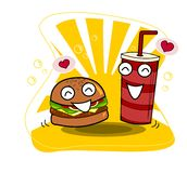 ?liczny hamburger z fili?ank? sodowany wektor Fast food ilustracji