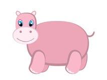 śliczny hipopotam Obrazy Royalty Free