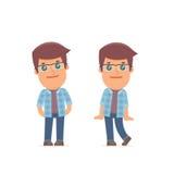 Śliczny i Czule charakteru Freelancer w nieśmiałym ilustracja wektor