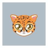 Śliczny jaguara avatar z płaskimi kolorami Fotografia Royalty Free