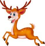 Śliczny jeleni kreskówka bieg Obrazy Royalty Free