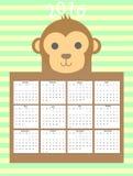 Śliczny kalendarz Zdjęcia Stock