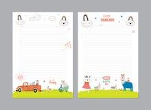 Śliczny Kalendarzowy Dzienny planista ilustracja wektor