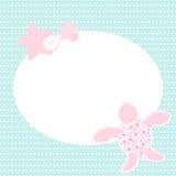 Śliczny kartka z pozdrowieniami z żółwiem Zdjęcie Royalty Free