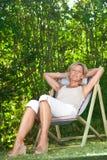 Śliczny kobiety relaksować Obrazy Royalty Free