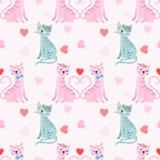 Śliczny kochanka kot w miłości walentynki dnia pojęciu royalty ilustracja