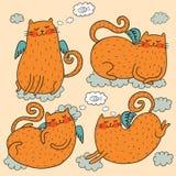 Śliczny kota wektoru set ilustracja wektor
