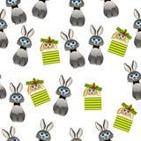 Śliczny królik z szalikiem ilustracja wektor