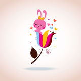 Śliczny królika charakter Fotografia Royalty Free