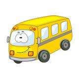 Śliczny kreskówka autobus Wektorowa ilustracja odizolowywająca na białym backgrou ilustracja wektor