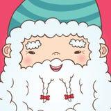 Śliczny kreskówka chińczyk Święty Mikołaj Obraz Royalty Free