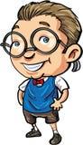 Śliczny kreskówka głupek z łęku krawatem Zdjęcie Stock
