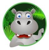 śliczny kreskówka hipopotam Zdjęcia Royalty Free