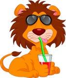 śliczny kreskówka lew royalty ilustracja