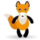 Śliczny kreskówka lis na białym tle Obraz Royalty Free