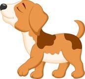 śliczny kreskówka pies Obrazy Royalty Free