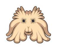 Śliczny kreskówka potwór odizolowywający na bielu Zdjęcia Stock