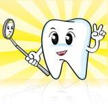 Śliczny kreskówka ząb Fotografia Stock