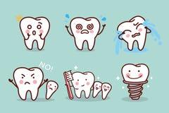 Śliczny kreskówka zębu wyrażenie Obraz Royalty Free