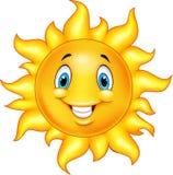 Śliczny kreskówki słońce ilustracji