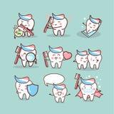 Śliczny kreskówki toothbrush pojęcie ilustracja wektor