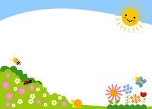 Śliczny kreskówki wiosny tło ilustracja wektor