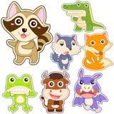 Śliczny kreskówki zwierzęcia set Obraz Stock