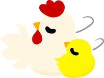 Śliczny kurczątko i ptactwo domowe ilustracji