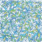 Śliczny kwiecisty bezszwowy deseniowy tło projekt Royalty Ilustracja