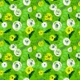 śliczny kwiecisty deseniowy bezszwowy tło rysująca kwiatów ręka Obrazy Stock